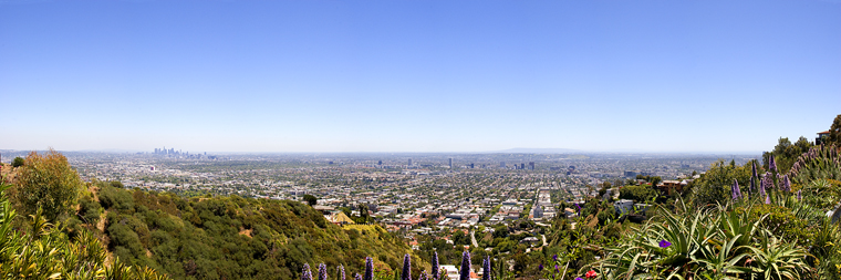 Los Angeles from Hollywood Hills Panorama