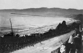 Early 1900s view of California Incline, Santa Monica